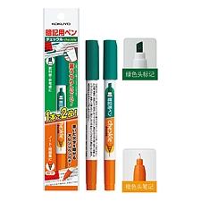 国誉 双头双色暗记笔 (绿/橘)  PM-M120-1P