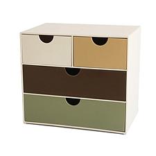 時代良品 多功能簡易桌面收納盒 (彩色) 四格  SD-2510