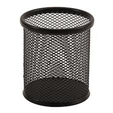 創奇藝 絲網筆筒 (黑) 圓形  CQY-802