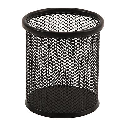 创奇艺 丝网笔筒 (黑) 圆形  CQY-802