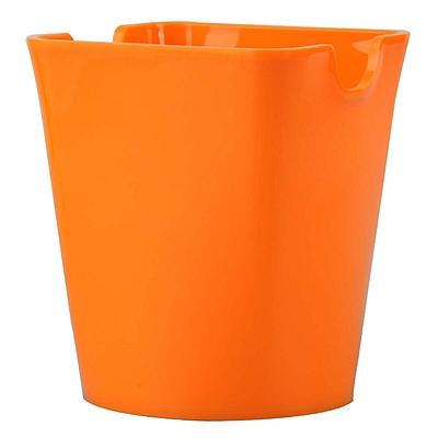 优和 笔筒 (橙) 方形  6904