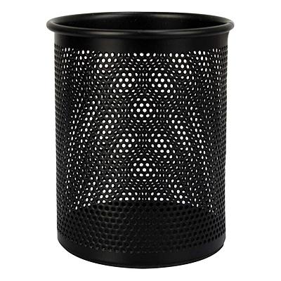 齐心 丝网笔筒 (黑) 圆形  B2002