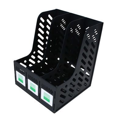 树德 资料架 (黑) A4 三格  S903L