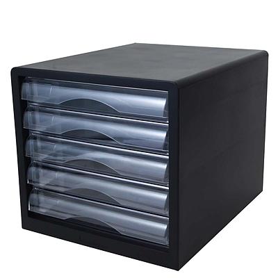 得力 文件柜 (黑) 五层  9775