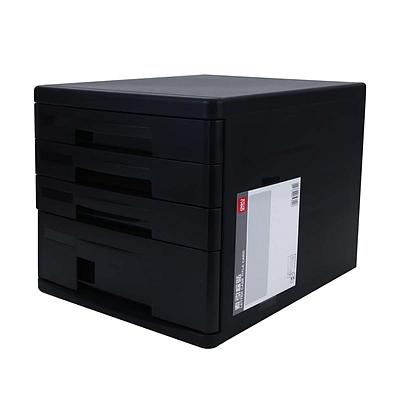 得力 文件柜 (黑) A4 四层  9772