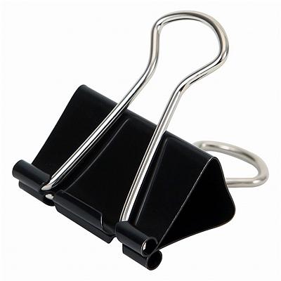易优百 长尾夹 (黑) 51mm 12个/盒  EB0607