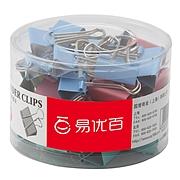 易優百 長尾夾 (彩) 25mm 48個/筒  EB0604