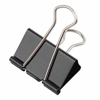 得力 长尾夹 (黑) 19mm 12个/盒  9545