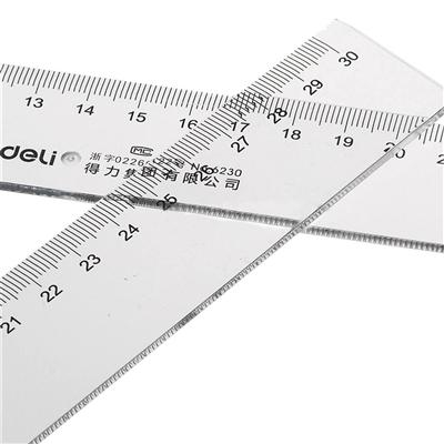 得力 直尺 (透明) 30cm  6230