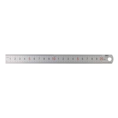 得力 钢直尺 (银色) 20cm  8462