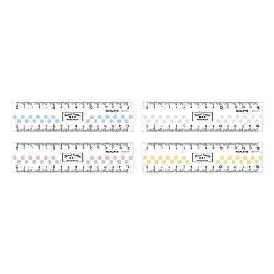 国誉 淡彩曲奇透明直尺 (混色) 15cm  WSG-CLC15
