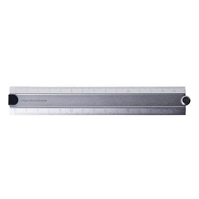 国誉 折叠式铝制直尺 (银) 30cm  WSG-CLUW30C