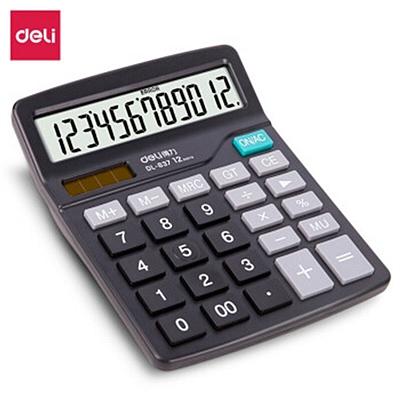 得力 计算器 (黑灰) 12位 中型  837