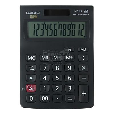 卡西欧 计算器 (黑) 12位 中型  MZ-12S
