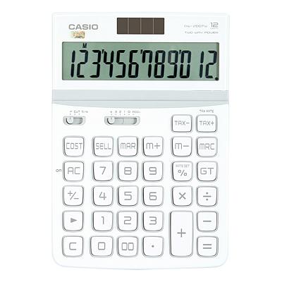 卡西欧 计算器 (莹雪白) 12位 中型  DW-200TW-WE