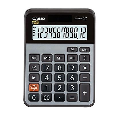 卡西欧 计算器 (银黑) 12位 中型  MX-120B