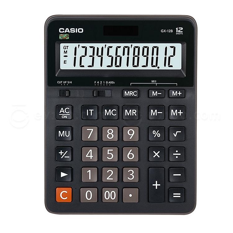 卡西欧 计算器 (黑) 12位 大型 gx-12b