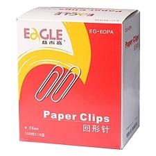 益而高 回形针量贩 (银色) 28mm 100枚*10盒/组  EG-6DPA