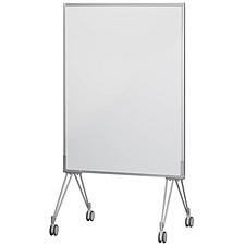 凯马翼 屏风式会议白板(带脚架) (白/橙) 900*1395mm/竖式  EMB-1800SPOWO