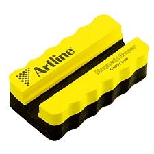 旗牌 夹笔式磁性白板檫 (黄色) 108*57*32mm  ERT-MMC