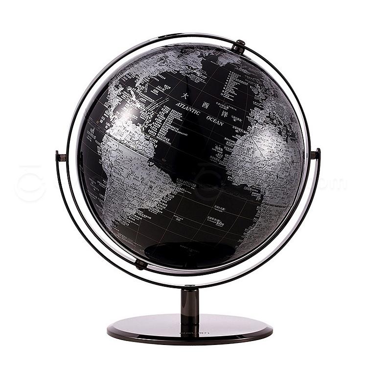 得力 万向地球仪 (黑) 25cm  2162