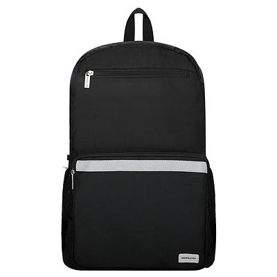 国誉 大容量书包双肩包(带防雨套)·广口 (黑) 中号  WSG-SBN04D