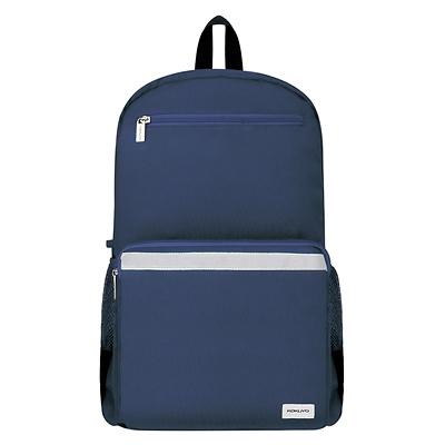 国誉 大容量书包双肩包(带防雨套)·广口 (深蓝) 中号  WSG-SBN04DB
