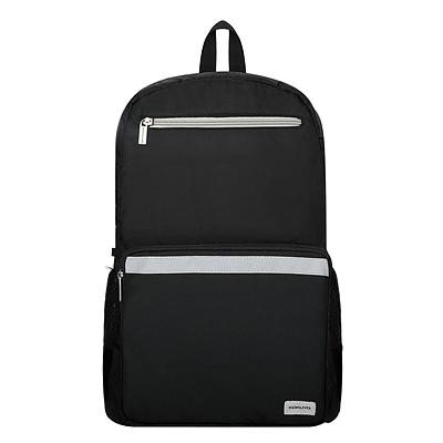 国誉 大容量书包双肩包(带防雨套)·双拉链 (黑) 中号  WSG-SBN05D