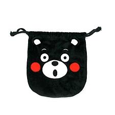 酷MA萌 束口袋(微笑惊讶款随机) (黑) 20*20cm  K11AV0017-1