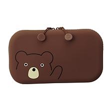 喜利 PuniLabo硅胶收纳包/杂物袋 (棕熊)  A-7716-1