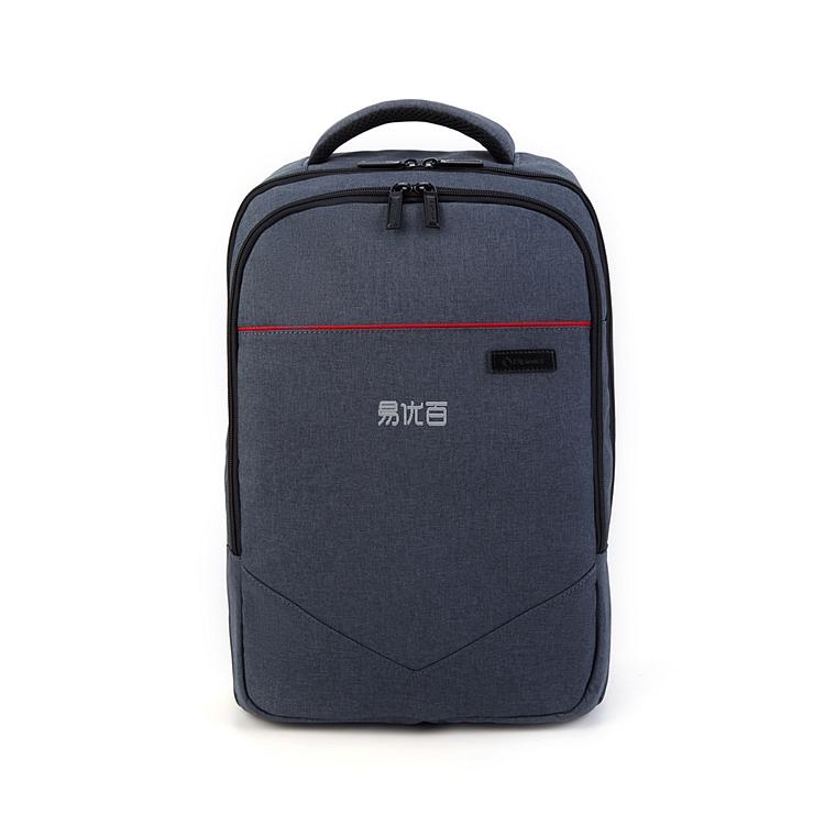 外交官 商务休闲双肩背包 (灰配黑)  YH-739L
