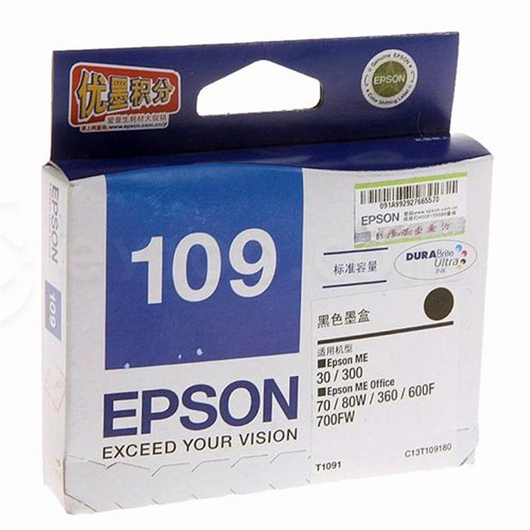 愛普生 打印機墨盒 (黑)  T1091