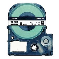 锦宫 标签色带 透明底/黑字 9mm  ST9K