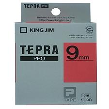 锦宫 标签色带彩色标签 红底/黑字 9mm  SC9R