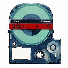 锦宫 标签色带彩色标签 6mm 红底/黑字  SC6R