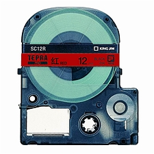锦宫 标签色带彩色标签 红底/黑字 12mm  SC12R