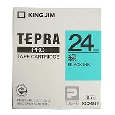 锦宫 标签机色带 (绿底/黑字) 24mm  SC24G