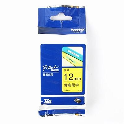 兄弟 标签色带 黄底/黑字12mm  TZe-631/TZe-Z631