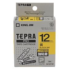 锦宫 标签色带强粘性标签 (黄底/黑字) 黄底/黑字 12mm  SC12YW