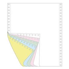 传美 彩色打印纸 (白/红/绿/蓝/黄) 带裂线  241-5