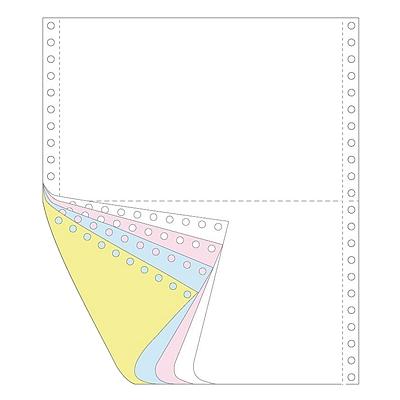 传美 彩色打印纸二等分 (白/红/蓝/黄) 带裂线 1200页/箱  241-41/2