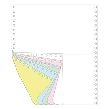 传美 彩色打印纸二等分 (白/红/绿/蓝/黄) 带裂线  241-51/2