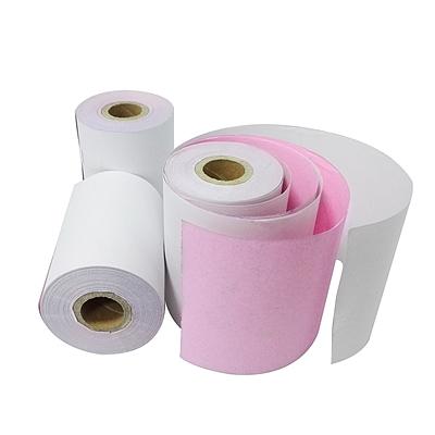 图润 双层无碳收银纸 (白/红) 120卷/箱  宽度75mm*外径60mm