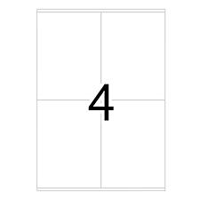 豪玛 电脑打印标签 (白) 105.0×144.0mm  4454-100