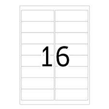 豪玛 电脑打印标签 (白) 99.1×34.0mm  4267-100