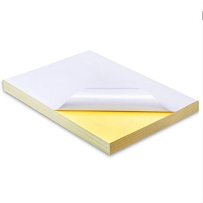 文仪易购 普通铜板不干胶 100张/包  A4