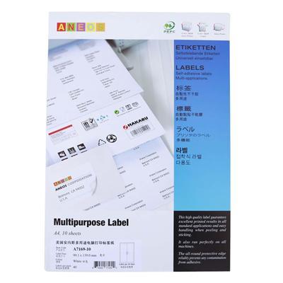 安内斯 电脑打印标签 (白) 99.1mm*139.0mm  A7169-10