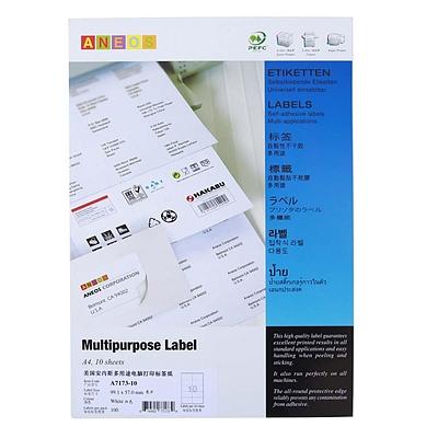 安内斯 电脑打印标签 (白) 99.1mm*57mm  A7173-10
