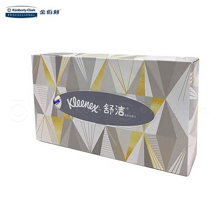 舒洁 商用盒装面巾纸量贩 80抽(双层)  0228
