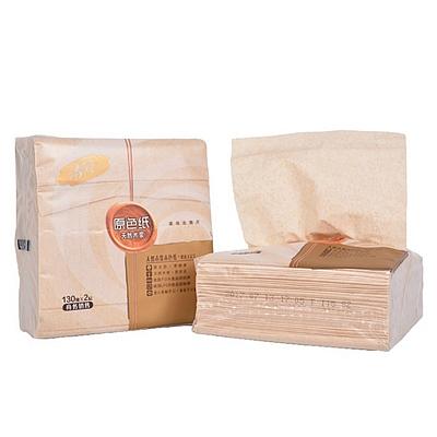 清风 原色2层130抽抽取式面巾纸 96包/箱  BR13A2BS
